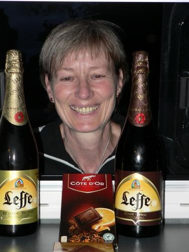 Zur Feier des Tages gibt es zwei Flaschen Bier :-)
