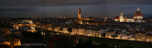 Nachtpanorama vom Piazzale de Michelangelo